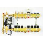 TECE kolektorius FBH su pamaišymo mazgu (2in1) 3 grindų šildymui + 4 radiatoriniam šildymui