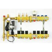 TECE kolektorius FBH su pamaišymo mazgu (2in1) 4 grindų šildymui + 2 radiatoriniam šildymui