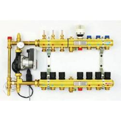TECE kolektorius FBH su pamaišymo  mazgu (2in1) 4 grindų šildymui + 1 radiatoriniam šildymui